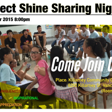 Project Shine Sharing Night 2015